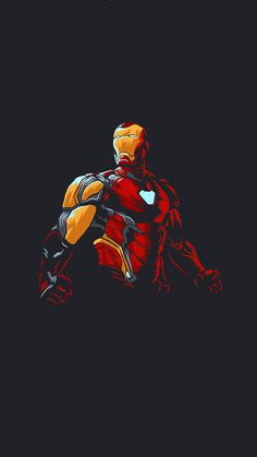 Iron Man New Minimalism iPhone Wallpaper - iPhone Wallpapers