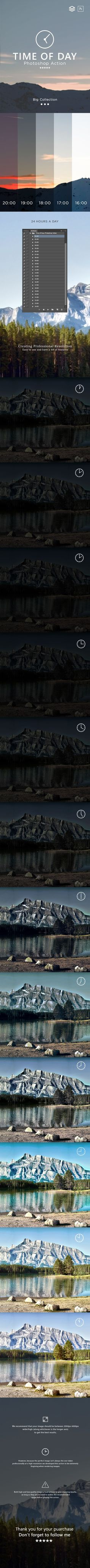 Time of Day Photoshop Action - Photo Effects Actions