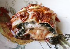 Spinach Goat Cheese Lasagna; we may be making this sometime this week before all that goat cheese goes bad