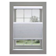 White 58W x 72H Inches DEZ Furnishings QCWT580720 Cordless Light Filtering Cellular Shade
