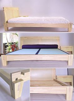 Bed Frame Under Bed Storage Queen Bed Frame Full With Headboard Best Wood For Furniture, Diy Furniture Projects, Furniture Design, Bedroom Furniture, Platform Bed Sets, Platform Bed Designs, Bed Frame Design, Diy Bed Frame, Bed Frames