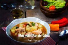 Marmitako de atún Appetizer Recipes, Appetizers, Food Hacks, Menu, Chicken, Patatas Guisadas, Barbacoa, Foodies, Sewing