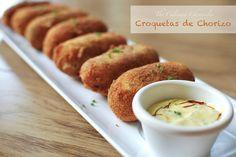 Croquetas de Chorizo  Our Tapas themed Family Dinner - http://www.diypinterest.com/croquetas-de-chorizo-our-tapas-themed-family-dinner/