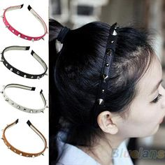 Hot selling 2013 Fashion Headband Spike Rivets Studded Band Party Punk Hair Band Women Accessories 1N41
