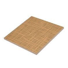 Chic Pumpkin Orange Brown Faux Jute Weave Pattern Tile - home gifts ideas decor special unique custom individual customized individualized