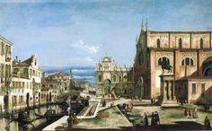 Bernardo Bellotto, Campo San Giovanni e Paolo, olio su tela, Collezione privata
