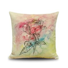 Rose Pattern Cotton Linen Throw Pillow Case Cushion Cover... https://smile.amazon.com/dp/B01JC4VMK6/ref=cm_sw_r_pi_dp_x_E3koybKGCR78R