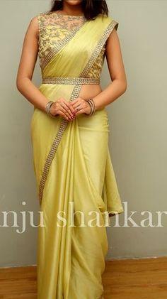 ZARI by Anju Shankar is a Chennai based online store provieds Latest Sarees, Designer Sarees, Fancy sarees an online Shopping. Half Saree Designs, Saree Blouse Neck Designs, Fancy Blouse Designs, Bridal Blouse Designs, Lehenga Designs, Indian Blouse Designs, Blouse Patterns, Trendy Sarees, Stylish Sarees