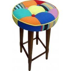 Banqueta Patchwork Colorido