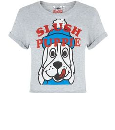 Teens. Compliment high waisted jeans with this slush puppy print t-shirt, great for a quirky casual look.- Slush puppies printed front- Round neck- Rolled sleeves- Cropped design- Casual fit- Soft cotton blend