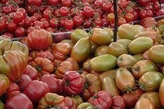 Tomates, Légumes, Marché, Vert, Red