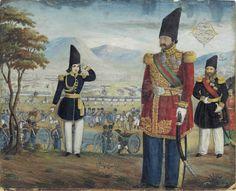 Islamic Persia: Ardashir Mirza and Solayman Khan Saham-Al-Doleh Review Their Troops