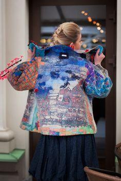 #unique #woolfelting Unique handmade wool felted coat jacket from australian…