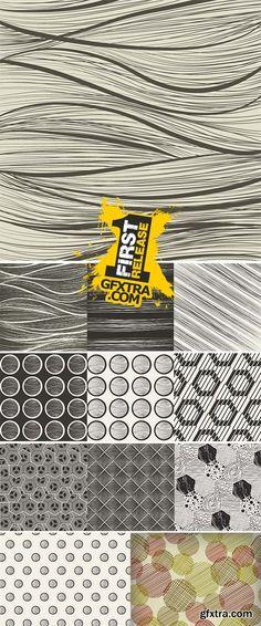 Seamless pattern background. Modern design line art Stock Vector