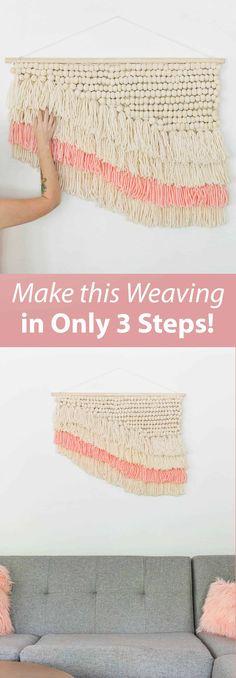 Easy (Faux) Weaving DIY - A Beautiful Mess