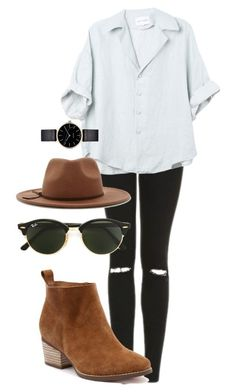 Harry Styles inspired outfit for girls by ceroberts-24 on Polyvore featuring Topshop, Ray-Ban, Forever 21 and Myku