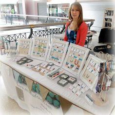 Jewelry Stall Natasha Fraser   Jewelry Booth   Jewelry Displays   Jewelry Booth Display Ideas #JewelryDisplays