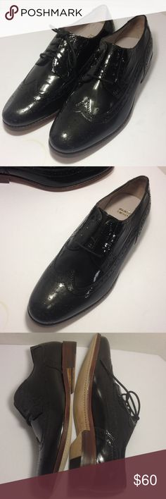 Johnston & Murphy black patent lace up loafers New without box in great condition, looks great with dress pants & long skirts. Johnston & Murphy Shoes Flats & Loafers