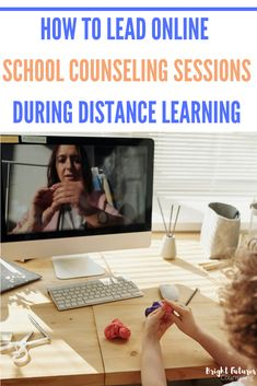 How to Lead Online School Counseling Sessions During Distance Learning — Bright Futures Counseling School Counselor Lessons, Middle School Counseling, Elementary School Counselor, Counseling Office, Online Middle School, Counseling Activities, Guidance Lessons, School Psychology, Humor