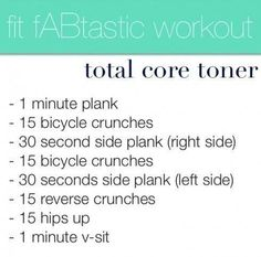 Do the fit fABtastic workout daily to get great looking abs and a tight core in no time!