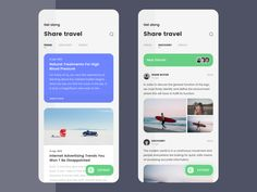 Travel sharing designed by Bobbi for B&B. Connect with them on Dribbble; Flat Web Design, App Ui Design, Web Design Trends, Interface Design, User Interface, Design Design, Site Design, Ui Design Mobile, Mobile Ui