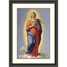 Global Gallery 'The Immaculate Conception' by Giovanni Battista Salvi Framed Painting Print Size: