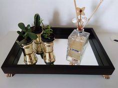 bandeja espelhada decorativa para bar/sala