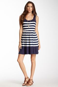 Stripe Racerback Dress by Everleigh on @HauteLook