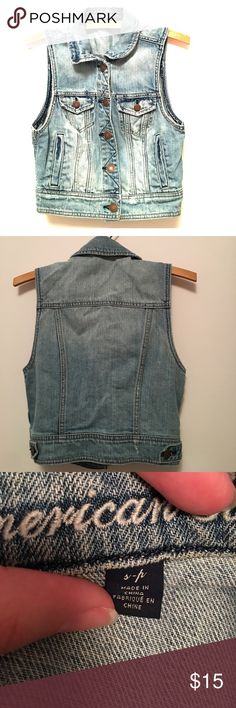 AMERICAN EAGLE jean vest American eagle jean vest. In EUC. Size small. American Eagle Outfitters Jackets & Coats Vests