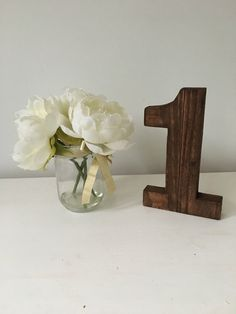 A Personal Favourite From My Etsy Https Www Uk Listing 509455179 Wooden Table Numbers Free Standing