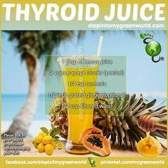 Thyroid juice  Thyroid juice  https://www.pinterest.com/pin/17310779797605410/   Also check out: http://kombuchaguru.com