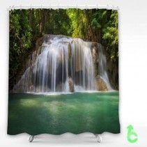 Beauty Waterfalls Shower Curtain