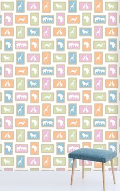 Zoo Biscuit wallpaper by Design Kist. All their prints are South African-inspired.