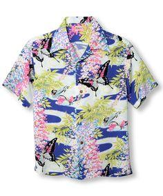 ef518e8d7 SS36438 (short sleeve) 「WISTERIA & DUCKS」 125) BLUE. Topper Harley · Hawaiian  shirts