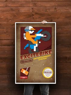 Love me some Excitebike.  NES Classic Posters by DonCarlos Salinas, via Behance