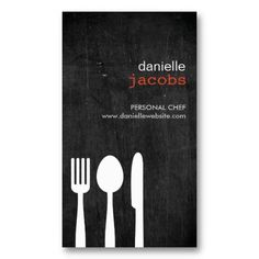 Customizable Business Card for Catering, Chefs, Restaurants