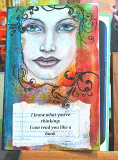 Old, trashed hardback book upcycled into e-reader cover.  Original graphite and watercolor painting by Michelle Hotchkiss.