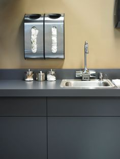"""Move over mauve, doctors' #offices just stepped up their game - great """"stormy"""" gray color from @formicagroup"""