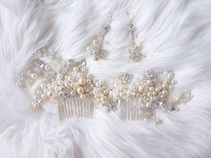 Check out this item in my Etsy shop https://www.etsy.com/listing/574217769/crystal-pearl-headpiece-bridal