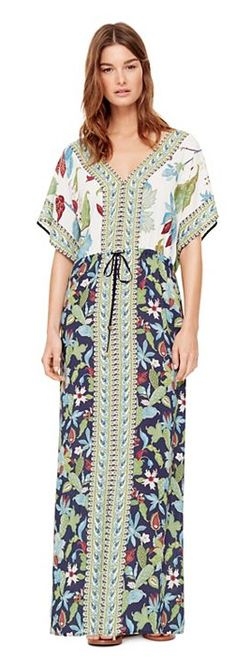 Tory Burch Wisteria Long Caftan