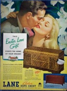 '40s Easter Ad may grandmother had the chest.