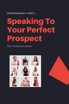 """I got some push-back from my recent article, The Perfect Prospect Fallacy.  Nothing surprising. Especially when you come right out and say that you disagree with what a bunch of people are teaching. LOL!!!  Now for the record... I'm not the only person who disagrees with this whole idea of creating the avatar of your ideal prospect.  There are some """"big names"""" who I've spoken to who completely agree with me."""