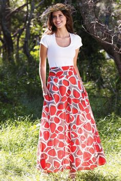 Bold colour is cool! that bird label ROSIE Maxi Skirt Pebble Stone - Womens Long Skirts at Birdsnest Women's Clothing