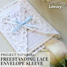 Freestanding Lace Envelope Sleeve (PR2099) from www.emblibrary.com
