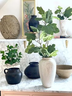 DIY Aged Pots + Vases | Pottery Barn Look for Less Using Thrift Store Finds
