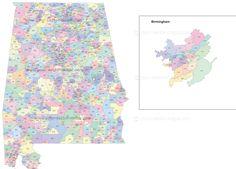 Arkansas state zip code map with location name Original postal