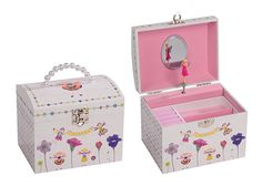 Petal Fairy Musical Jewellery Box - glittered detail - includes magical shimmer!