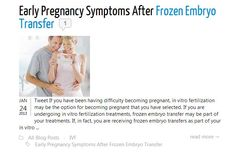 In order to help you detect whether or not your procedure has been successful, here are a few early pregnancy symptoms after frozen embryo transfer that you can be on the look out for... FIND OUT HERE! ↓  http://iwantbaby.com/blog/early-pregnancy-symptoms-after-frozen-embryo-transfer/