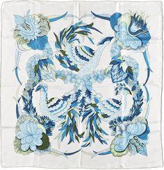 silk Hermes scarf. #Print #pattern