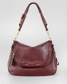 Tom Ford Large Jennifer Flap-Top Bag, Oxblood
